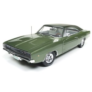 "American Muscle Diecast . AMD 1/18 1968 Dodge Charger R/T ""Class of 68"" (50th Anniversary) - Medium Green"