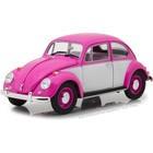 Green Light Collectibles . GNL Greenlight 1/18 1967 Volkswagen Beetle -Right hand drive- Pink and white