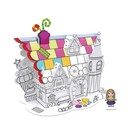 Daron Worldwide Trading . DRN Coloring 3D Puzzle Dessert House W/5 Pens 23 Pieces