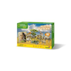 Daron Worldwide Trading . DRN African Wildlife 3D Puzzle 69 Pieces National Geographic