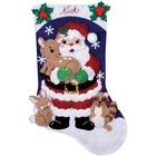"DESIGN WORKS . DEW Santa Felt Stocking Kit 16"""