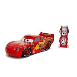 Jada Toys . JAD 1/24 Lightning Mcqueen w/ Extras Wheels