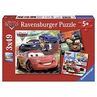 Ravensburger (fx shmidt) . RVB Worldwide Racing Fun 3-49pc Puzzles