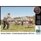 Masterbox Models . MTB 1/35 WWII German Tankers a break between battles (5 w/Dog)
