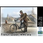 Masterbox Models . MTB 1/35 French Soldier w/Bicycle WWII Era