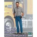 Masterbox Models . MTB 1/24 Stan Long Haul Thompson Trucker Standing