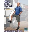Masterbox Models . MTB 1/24 Jimmy Tex Haywood Trucker Standing w/one Foot Raised