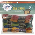 MILL HILL . MIL Color Stitch Floss Starter Pack 24/ Pack - Log Cabin Colors