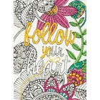 """Dimensions . DMS Dimensions Embroidery Coloring Kit 5""""X7"""" - Follow Your Heart"""