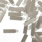 "IMPressArt . IAD ImpressArt - Tag, Rectangle Aluminum with Ring 5/8""X3/16"" - 24pcs"
