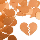"IMPressArt . IAD ImpressArt - Broken Heart 1"" Copper - 2pcs"