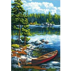 Dimensions . DMS Canoe By The Lake 14 x 20 Paint By Number