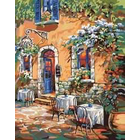 Plaid (crafts) . PLD French Country Cafe 16 x 20 Paint By Number