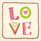 "Dimensions . DMS Dimensions/Cathy Heck Embroidery Kit 8""X8"" - Love"