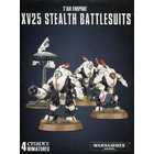 Games Workshop . GWK Warhammer 40K: Tau Empire XV25 Stealth Battlesuits