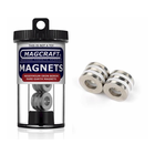"""Magcraft Magnets . MFM 0.75"""" X 0.375"""" X 0.125"""" Rare Earth Ring Magnet (6)"""