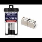 "Magcraft Magnets . MFM 0.75"" X 0.75"" X 0.125"" Rare Earth Block Magnet (6)"