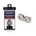 """Magcraft Magnets . MFM 1"""" X 0.5"""" X 0.125"""" Rare Earth Ring Magnet (4)"""