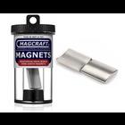 "Magcraft Magnets . MFM 1"" X 0.875"" Rare Earth Arc Magnet (2)"