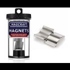 "Magcraft Magnets . MFM 0.75"" X 0.625"" X 0.75"" RARE EARTH ARC MAGNET (2)"