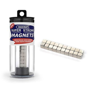 "Magcraft Magnets . MFM 1/4"""" Rare Earth Cube Magnet"