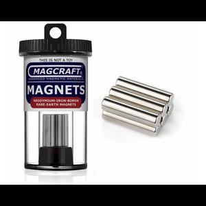 "Magcraft Magnets . MFM 0.25"" X 1"" Rare Earth Rod Magnet (6)"