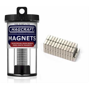 Magcraft Magnets . MFM 1/4X1/4X1/10 Rare Earth Blk Ma
