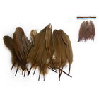 "MultiCraft . MCI 8"" Goose Feathers x12 C) Brown"