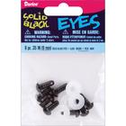 Darice . DAR 9mm Solid Black Safety Eyes 8/Pkg