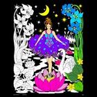 Stuff To Color . SFC 16X20 Velvet Poster Night Princess