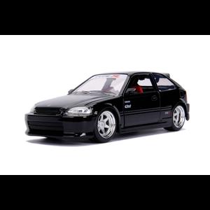 """Jada Toys . JAD """"JDM Tuners Metals Die Cast"""" 1/24 1997 Honda Civic EK Type R - G"""