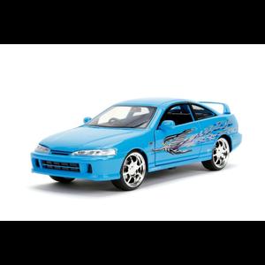 """Jada Toys . JAD """"Fast & Furious"""" 1/24 Mia's Acura Integra - Blue"""
