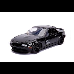 """Jada Toys . JAD """"JDM Tuners Metals Die Cast"""" 1/24 1990 Mazda Miata - Glossy Black"""