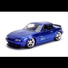 """Jada Toys . JAD """"JDM Tuners Metals Die Cast"""" 1/24 1990 Mazda Miata - Candy Blue"""
