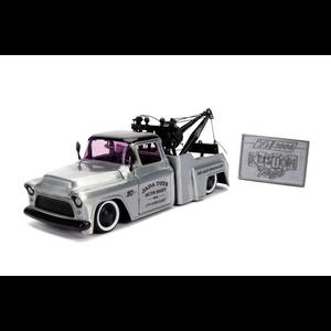 """Jada Toys . JAD """"Kustom Kings"""" 1/24 - 1955 Chevy Stepside Tow Truck"""