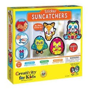 Creativity for kids . CFK Sticker Suncatchers