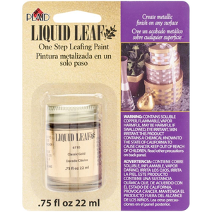Plaid (crafts) . PLD Liquid Leaf One-Step Leafing Paint .75oz