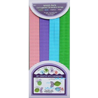 Quilled Creations . QUI Green-Blue-Purple-Pink Corrugated Strips