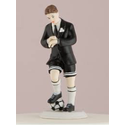 Wedding Star . WST (DISC)-Groom - Soccer Player Cake Topper