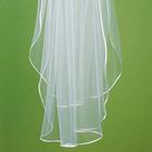 Wedding Star . WST (DISC) Satin Ribbon Border Veil