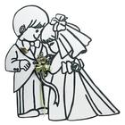 Wedding Star . WST (DISC)-Bride & Groom Cardboard Shape