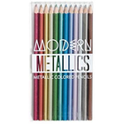 Modern Metallic Colored Pencils Set Ofr 12