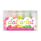 Dot A Lot Dimensional Craft Paint Set Of 5 Neon