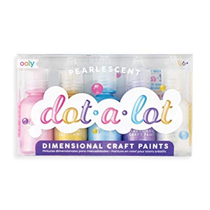 Dot A Lot Dimensional Craft Paint Set Of 5 Pearlescent