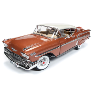 American Muscle Diecast . AMD 1/18 1958 Chevrolet Hardtop Coupe - Sierra Gold Poly