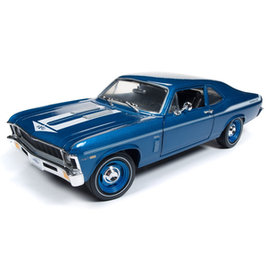 American Muscle Diecast . AMD 1/18 1969 Chevy Nova Yenko Coupe - Lemans Blue