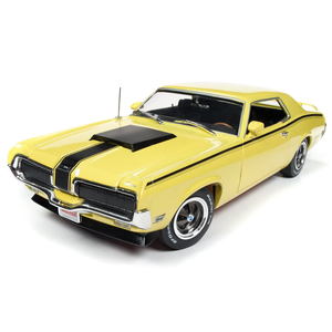 American Muscle Diecast . AMD 1/18 1970 Mercury Cougar Eliminator (Hemmings Muscle Machines) - Competition Yellow