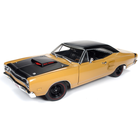 American Muscle Diecast . AMD 1/18 1969.5 Dodge Super Bee Hardtop (Class of 1969) - Butterscotch w/Flat Black Roof, Red Engine Bay & Side Scoops