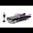 Jada Toys . JAD 1/24 DC Comics Bombshells 1959 Cadillac w/Catwoman