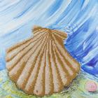 "Leisure Arts . LSA Shell Diamond Art Intermediate Kit 12""X12"""